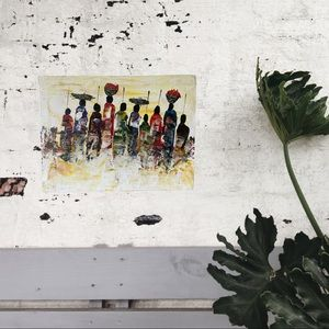 Village Women original Acrylic painting